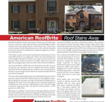 American Roof Brite Roof Cleaning Protection